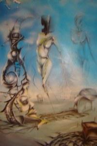 10   .po drugiej stronie.gruby karton.farby olejnekredki  art.,p